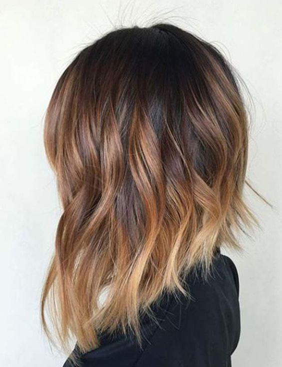 Couleur ombre cheveux mi long