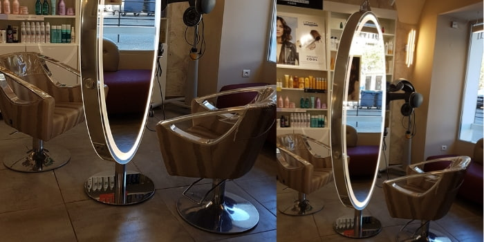 Coiffeuse sur pied maletti
