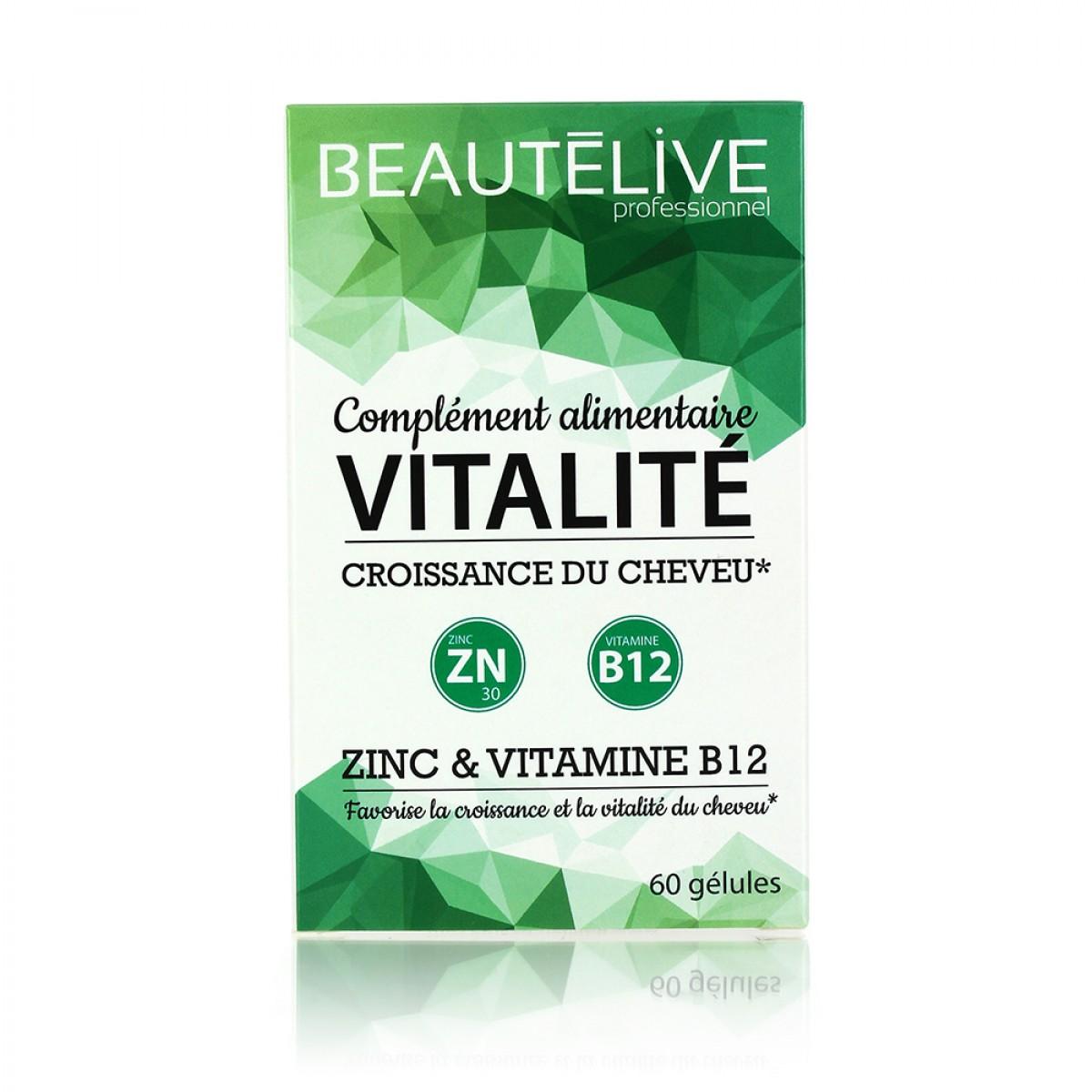 Compléments alimentaire vitalité et croissance du cheveu Beautélive